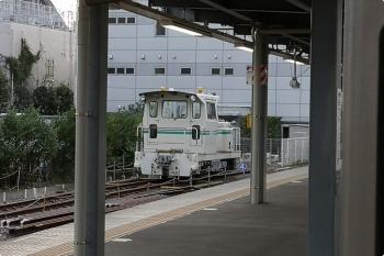 2020年9月18日。東長崎。4番ホーム横の保守用車スペース。モーターカーだけになってました。