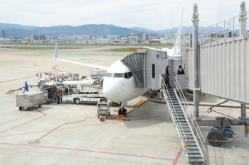 2020年9月20日。福岡空港。この飛行機に乗ってたんだと思います。