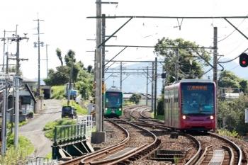 2020年9月20日。筑豊中間。左が、筑豊中間止まりだった列車の折り返し。右は直方からの直通列車。