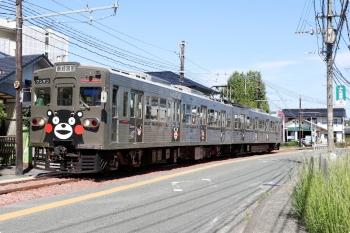 2020年9月21日。藤崎宮前〜黒髪町。後ろの車両がefWING台車を履く6221efです。