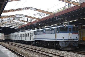 2010年6月5日、新秋津、側線を定時に発車したEF65-1087+1249F。