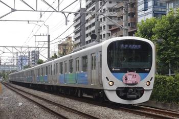 2010年7月15日、高田馬場~下落合、35分ほど遅れの5320レ(?)、「西武東京メトロパス」HM付きの38106F。