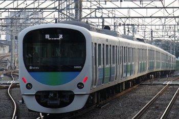 2010年11月7日 15時32分、所沢、西武新宿方へ発車した38103F+32101Fの回送列車。