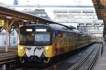2010年11月19日 6時42分頃、所沢、3011Fの池袋線上り回送列車。
