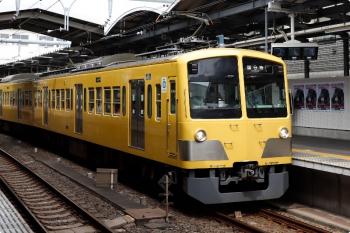 2020年10月4日。萩山。263Fの6046レ。萩山駅には9108Fの多摩湖線デビュー告知ポスターが並んでいました。
