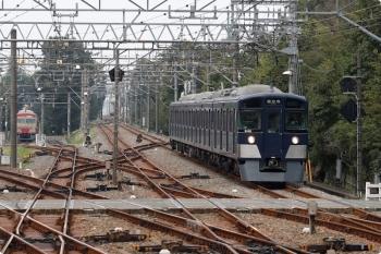2020年10月4日。萩山。西武遊園地駅から到着する9108Fの6048レ。