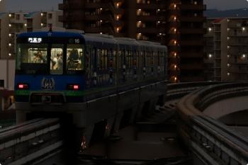 2020年10月11日 17時38分ころ。南茨木。門真市ゆきの「ガンバ大阪」車体広告の2016ほか。