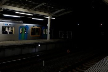 2020年10月18日 18時2分ころ。入間市。回送となって5番ホームから発車する40103F。