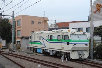 2020年10月22日。東長崎。飯能方にいたレール探傷車。