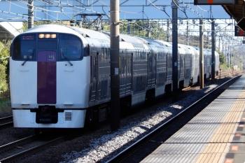 2020年10月31日 8時23分ころ。大磯。貨物線を走る215系の下り回送列車。