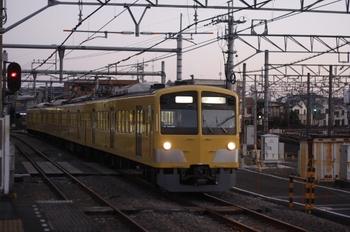 2011年1月5日、所沢、1245Fの新宿線・上り回送列車。