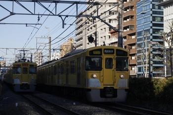 2011年1月13日、高田馬場~下落合、2051F+2525Fの2754レ。