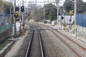 2011年1月23日、花小金井~小平、下り列車の車内から撮影。