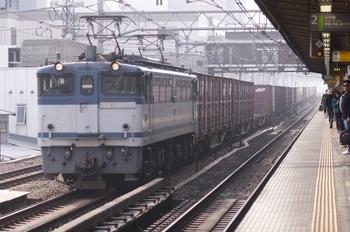 2011年2月6日 11時3分頃、高田馬場、EF65-1094牽引の北行貨物列車。