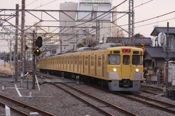 2011年3月6日 17時13分頃、所沢、2023Fの下り回送列車。