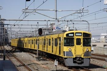 2011年3月19日 9時38分頃、練馬、豊島園から到着する2501Fの各停 練馬ゆき。