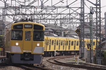 2011年4月25日、所沢、2463F+2077Fの通勤準急 西武秩父ゆき(4801レ)。
