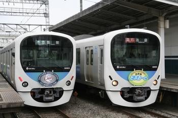 2011年5月5日、西所沢、左がライオンズHMの38103F+32101Fの4121レ。