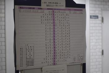 2011年5月28日、副都心線 池袋、土休日の時刻表。