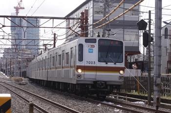 2011年4月16日、石神井公園~大泉学園、メトロ7003Fの4605レ。