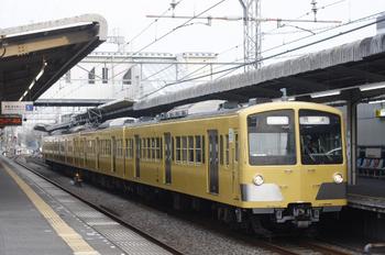2011年10月11日 6時41分頃、西所沢、4番ホームに到着した1241Fの上り回送列車。