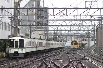 2011年10月22日 7時50分頃、池袋、発車した秩父サイクルトレイン臨時列車。