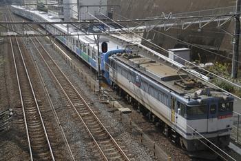 2011年10月30日 12時0分頃、新秋津、EF65-1068+38111F。