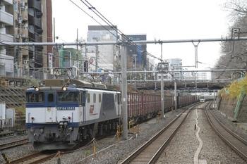 2011年12月24日、駒込、EF64-1045牽引の2077レ。