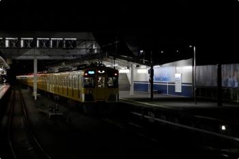 2020年11月3日 17時54分ころ。西所沢。5分ほど停車して、1番ホームから発車した2461F+2069Fの快速7368レ。