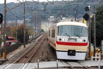 2020年11月8日 9時45分ころ。元加治。通過する10105Fの下り回送列車。
