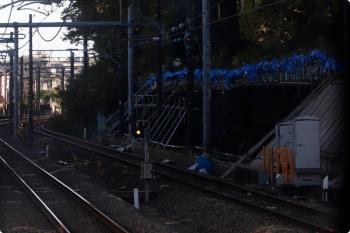 2020年11月14日。新秋津〜所沢。法面補強工事。
