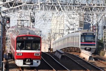 2020年11月15日 8時40分ころ。京成高砂。発車した京急1725ほかのアクセス特急 京急久里浜ゆき(57H運用)。