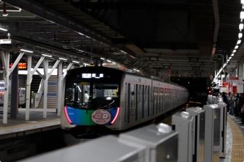 2020年11月28日 18時3分ころ。所沢。4番ホームから発車した40152F(カナヘイ)の各停 飯能ゆき。