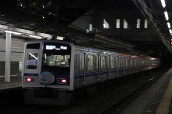 2012年1月3日、西所沢、4602レの「未来の鉄道号」HM付き6110F。
