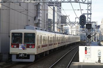 2012年1月3日、京成千葉、新年HM付き新京成8511Fの松戸ゆき。