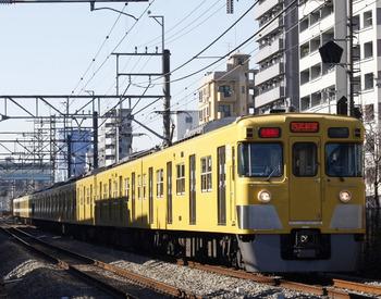 2012年1月13日、高田馬場~下落合、2033F+2543Fの1606レ。