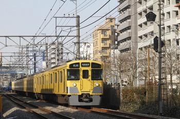 2012年1月28日、高田馬場~下落合、2451F+2013Fの5322レ。