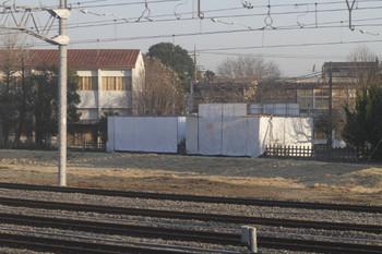 2012年4月7日、保谷、囲われた保存ELとSL。