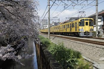 2012年4月7日、武蔵関~東伏見、2451F+2009Fの5322レ。