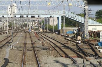 2012年5月19日 6時15分頃、保谷、上り列車最後部から見た電留線。