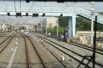 2012年6月2日、保谷、途切れた4番・5番線が左端に見えます。