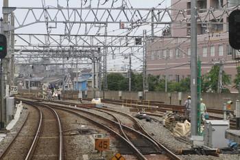 2012年6月23日、練馬高野台、下り列車から石神井公園方を撮影。