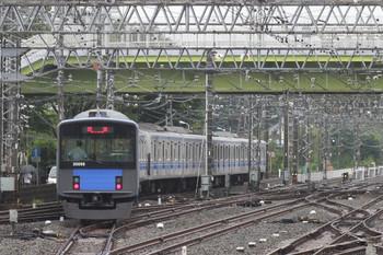 2012年8月14日10時24分頃、小手指、3番ホームから飯能方へ発車した20156Fの下り回送列車。
