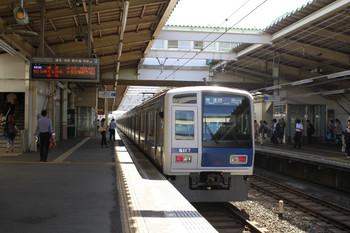 2012年9月10日 9時38分ころ、秋津、発車した6117Fの快速 練馬ゆき。