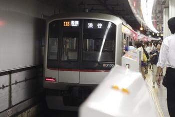 2012年9月12日、池袋、東京メトロ副都心線711Sの東急5155F。