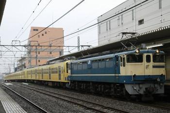 2012年12月17日11時51分ころ、西国分寺、近江鉄道へ向かうEF65-2121+295F+1303F。