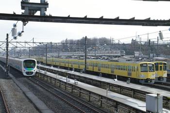 2012年12月22日 14時ころ、小手指車両基地、留置されている4両編成の1309F。