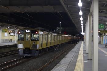 2020年12月3日 5時12分ころ。仏子。中線から発車した2089F+2463Fの下り回送列車。