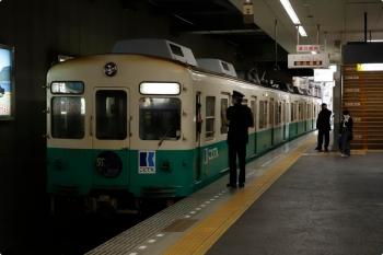 2020年12月11日 15時14分ころ。瓦町。築港方へ発車する1251+1252の回送列車。