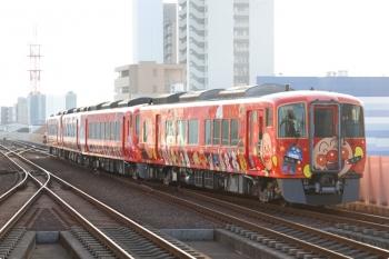 2020年12月12日 8時2分ころ。高知。2803ほか4連の赤いアンパンマン列車の特急 南風6号が発車。